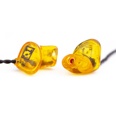 Hörluchs HL2 In-Ear Kopfhörer in orange - Gisbrecht Hörakustik Saar - Daniel Elger Design